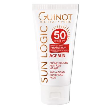 GUINOT Priešraukšlinis kremas veidui SPF50 / Age sun SPF50 Anti-Age Face Cream 50 ml.