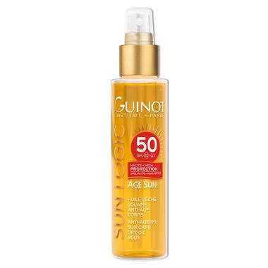 GUINOT Priešraukšlinis aliejus nuo saulės kūnui SPF 50 / Age Sun SPF50 Anti-Age Body Dry Oil 150 ml.