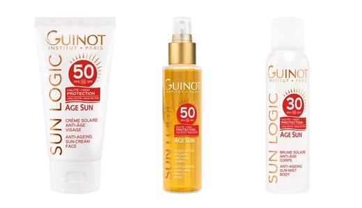 GUINOT Priešraukšlinis kremas nuo saulės veidui SPF30 / Age Sun SPF30 Anti-Age Face Cream 50 ml.