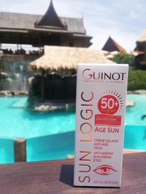 Guinot Age Sun priešraukšlinis kremas nuo saulės akių sričiai SPF50+