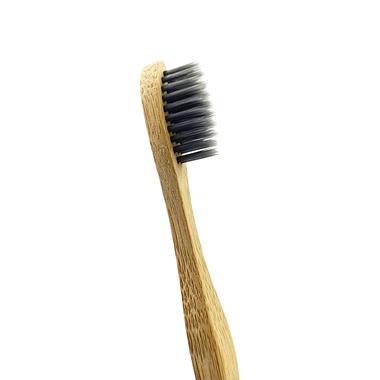 Bambukinis dantų šepetėlis su anglies šereliais