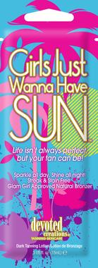 "Soliariumo kremas ""GIRLS JUST WANNA HAVE SUN"" 15ml"