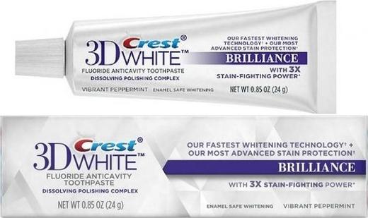 Balinamoji dantų pasta Crest 3D Brilliance kelioninė