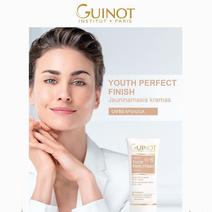 Guinot Jauninamasis kremas su spalva SPF50 +DOVANA šepetėlis / Youth Perfect Finish Cream SPF50 30 ml.