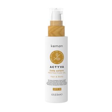 KEMON Linfa Solare Oil/Apsauginis ir maitinamasis plaukų ir kūno aliejus 125 ml.